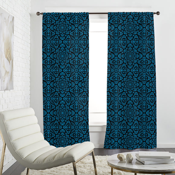 Black and Blue Curtains