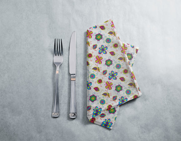 Abstract Flower Napkins