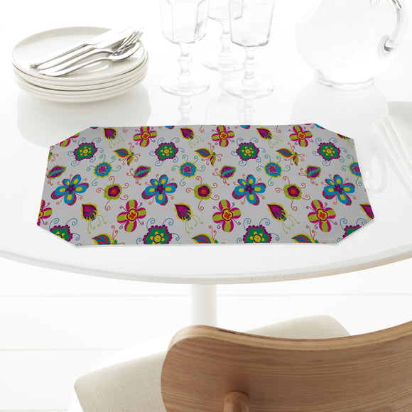 Abstract Flower Placemats