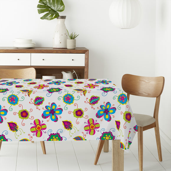 Abstract Flower Rectangle Tablecloths