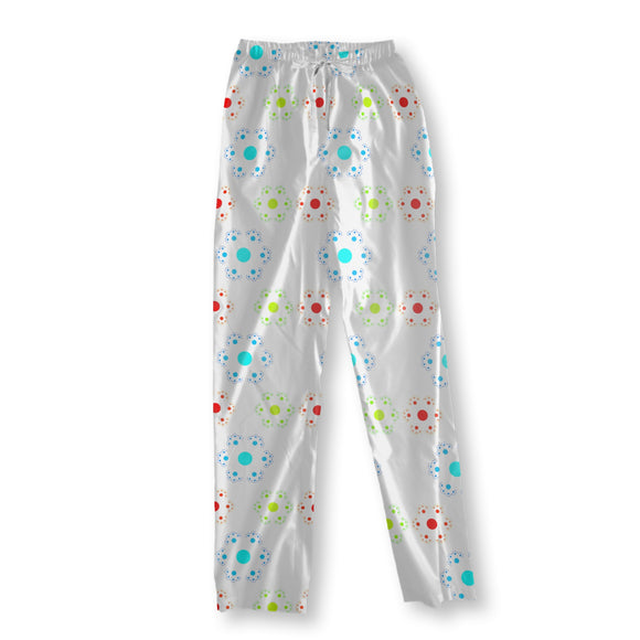 Hexagonal Dotflower Pajama Pants