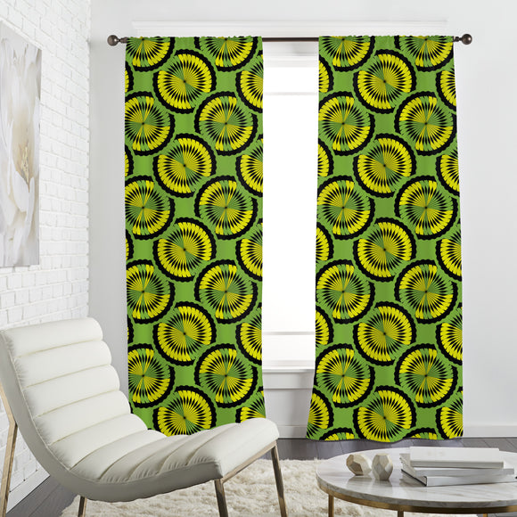 Kiwi Tropical Curtains