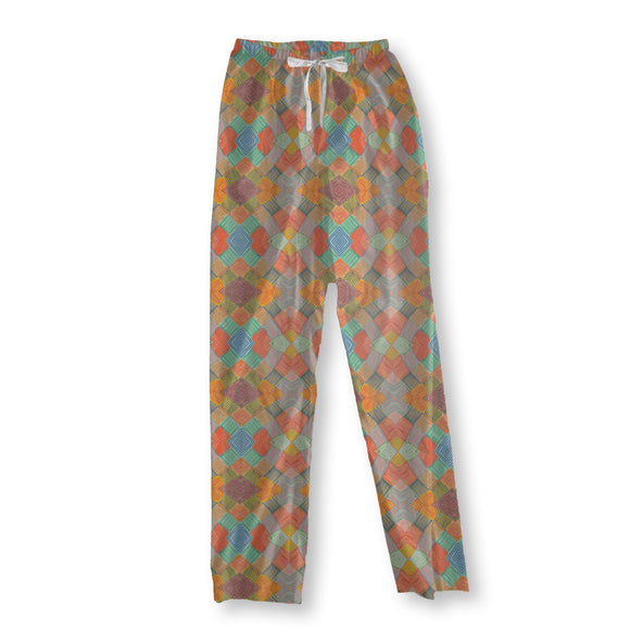 Patchwork Multi Color Pajama Pants