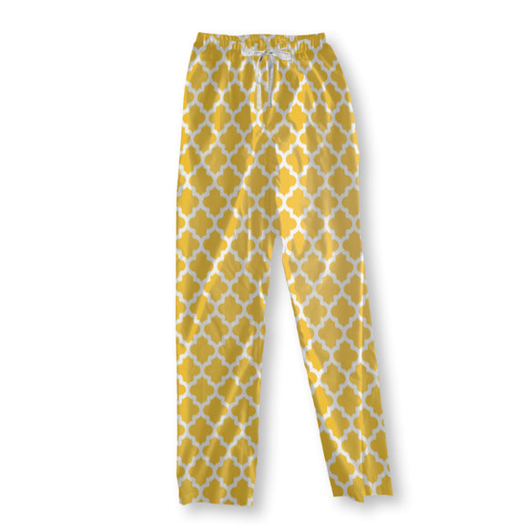 Unique Ikat Yellow Pajama Pants