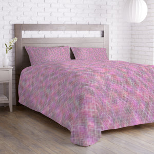 Confusion Of The Pink Squares Duvet