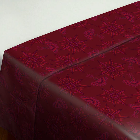 Flora In Cranberry Flat Sheets