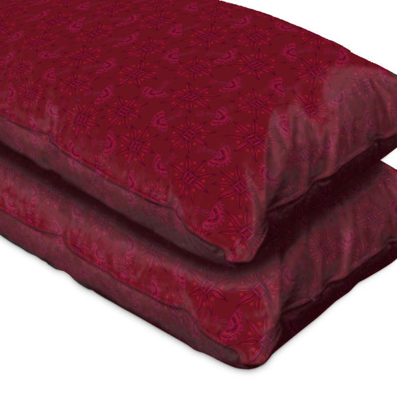 Flora In Cranberry Pillow Case