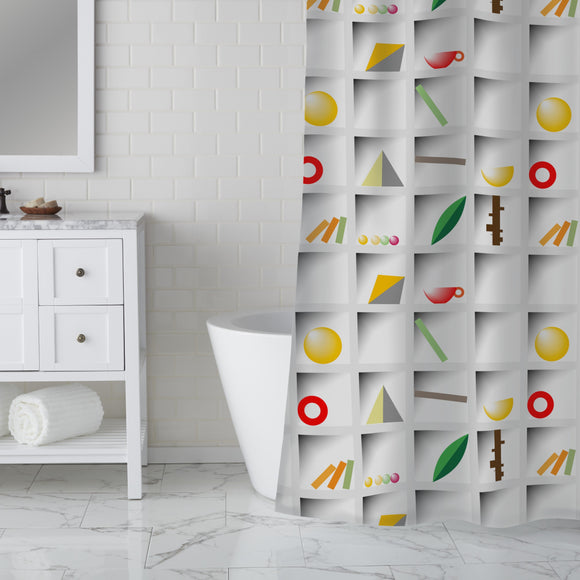 Lettercase Shower Curtain