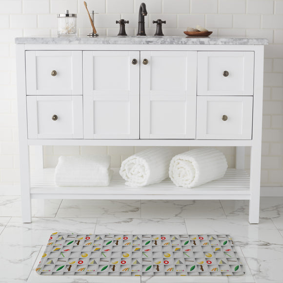 Lettercase Bathroom Rug