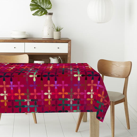 Abstract Flowerbed Rectangle Tablecloths
