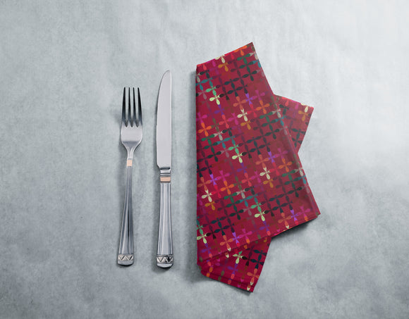 Abstract Flowerbed Napkins