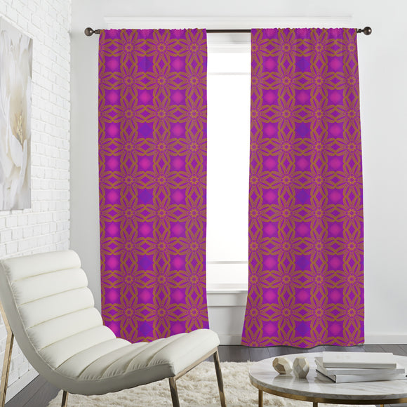 A Floral Line Curtains