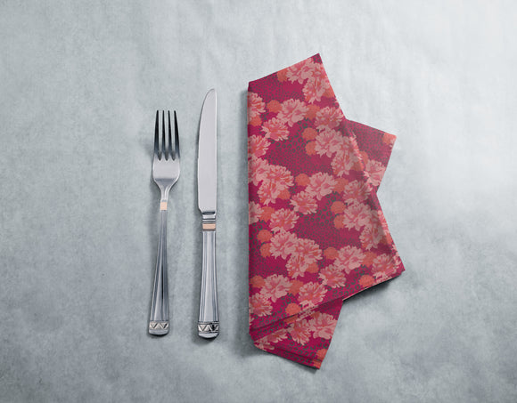 Leopards And Peonies Napkins