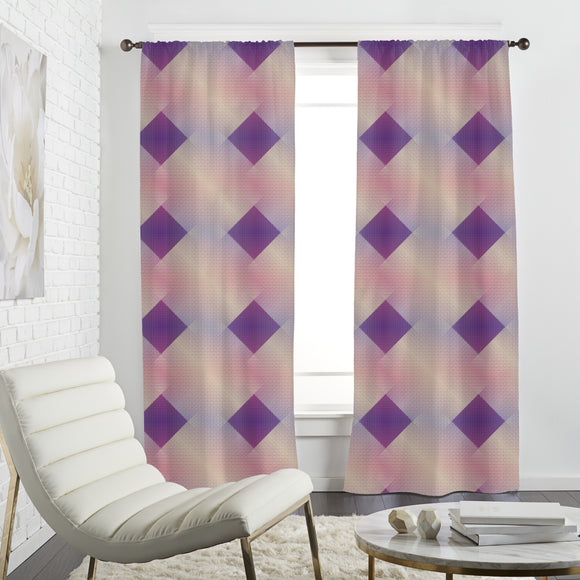 Shaded Grid Curtains