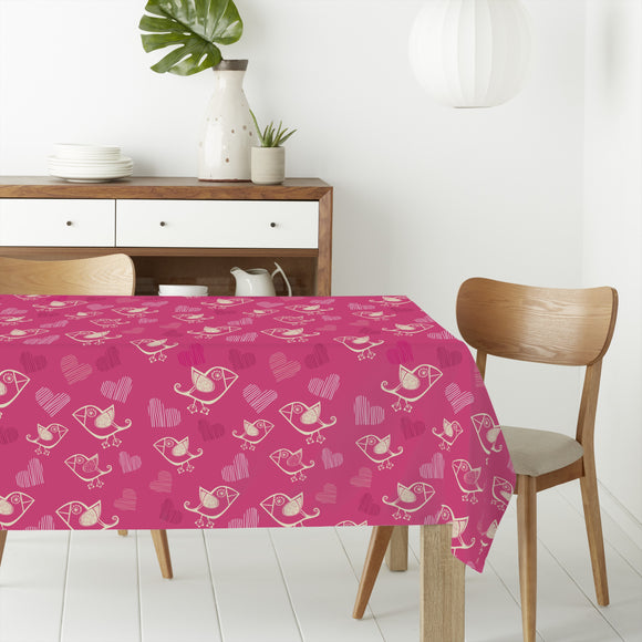 Birdie In Love Rectangle Tablecloths