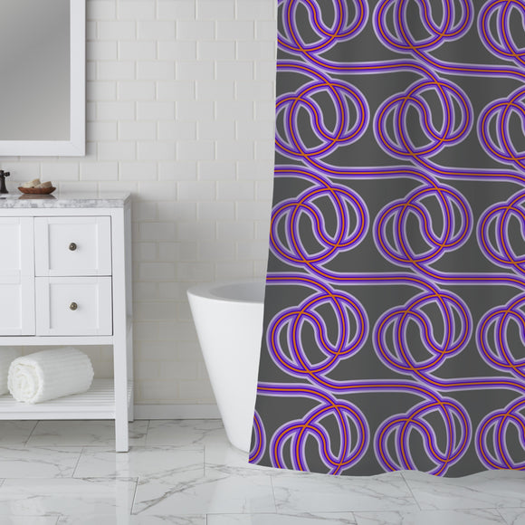 Wired Cables Shower Curtain