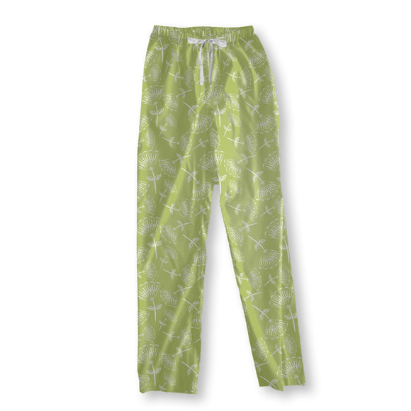 Fan Flowers On Grass Pajama Pants