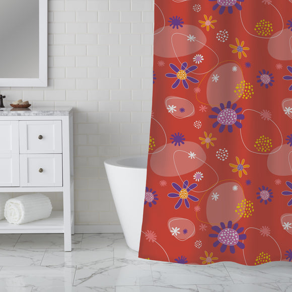 Flowers Mira Shower Curtain