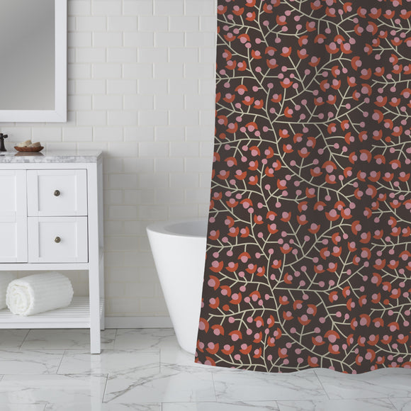 Nordic Floral Shower Curtain