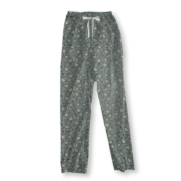 Flying Chess Master Hearts Pajama Pants