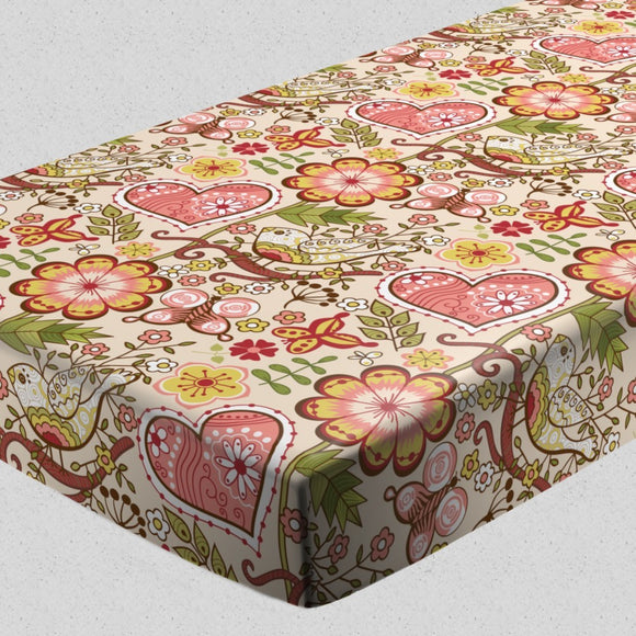 Bohemian Garden Fantasies Fitted Sheets