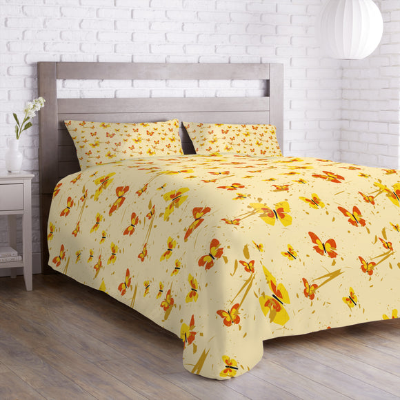 Action Painting Butterfly Duvet