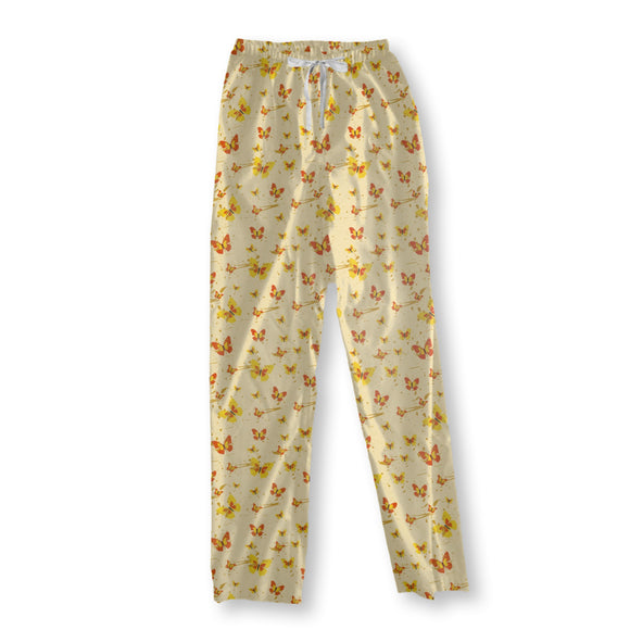 Action Painting Butterfly Pajama Pants