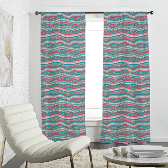 Waves Of Candy Ocean Curtains