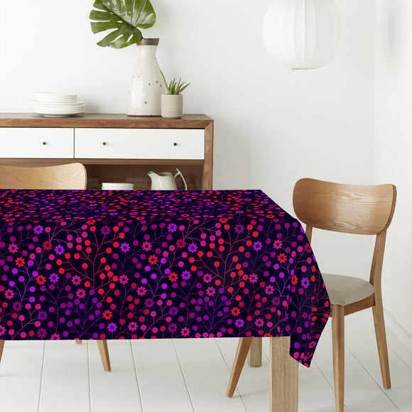 At Night In The Berry Wood Rectangle Tablecloths