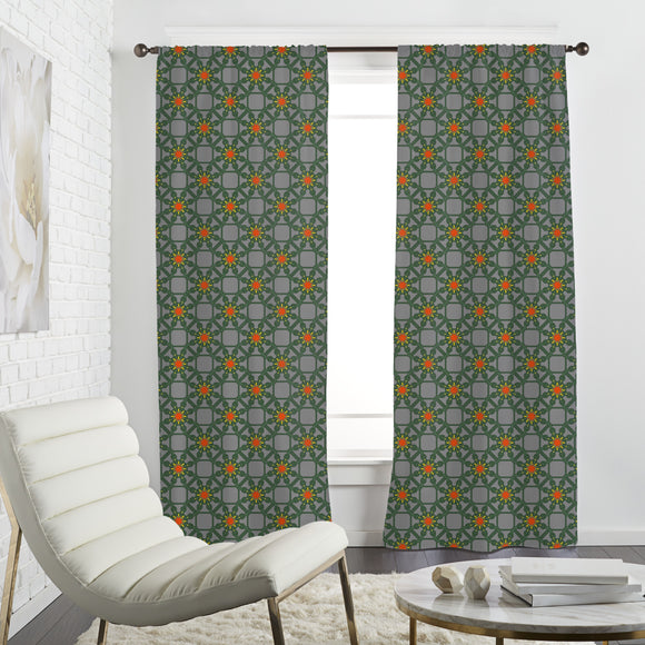 Floral Wire Fence Curtains