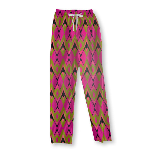 Pink Pop Deco Pajama Pants