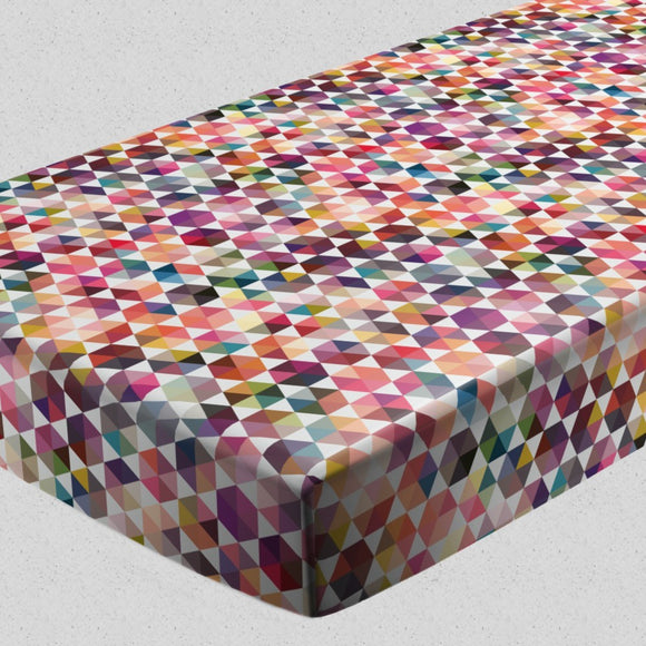 Hexagon Facets Fitted Sheets