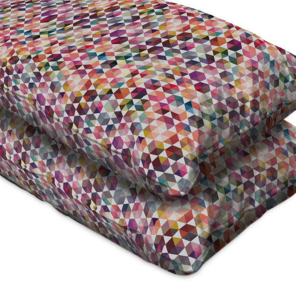 Hexagon Facets Pillow Case