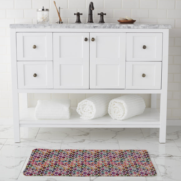 Hexagon Facets Bathroom Rug