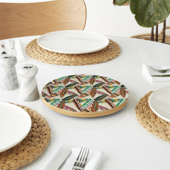 Ethno Feathers Lazy Susan
