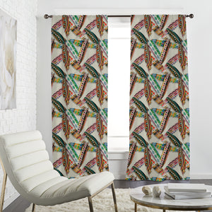 Ethno Feathers Curtains