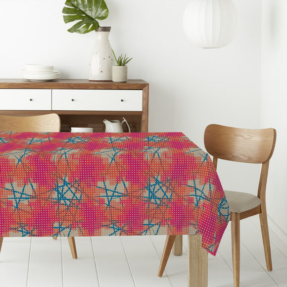 Pixelated Stains Rectangle Tablecloths