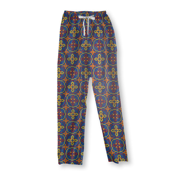 Pixel Crosses Pajama Pants