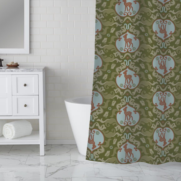 As The Birds Sang For The Fawn Shower Curtain
