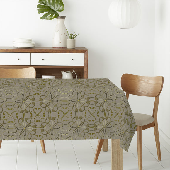 Embossed Flowers Rectangle Tablecloths