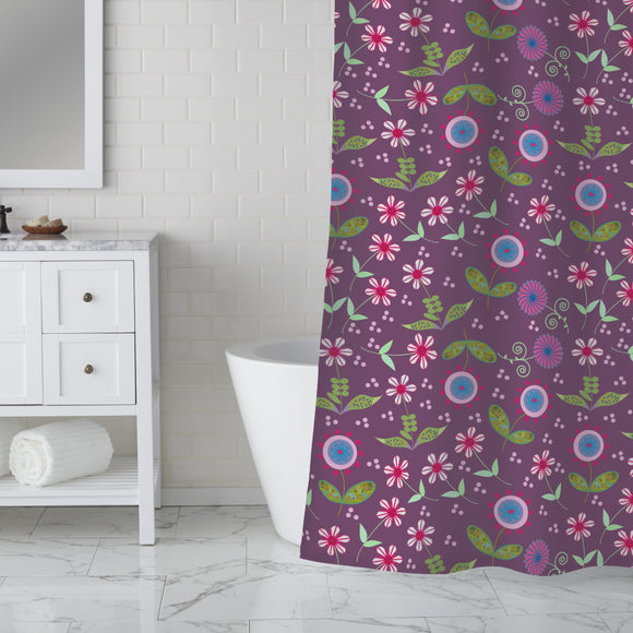 Land Of Floralia Shower Curtain