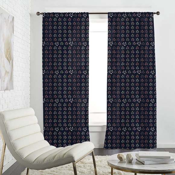 Inline Flowers Curtains