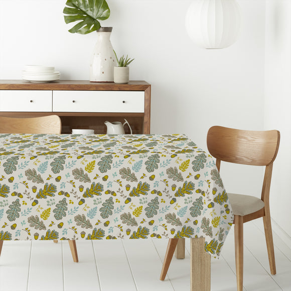 Acorn And Leaf Rectangle Tablecloths