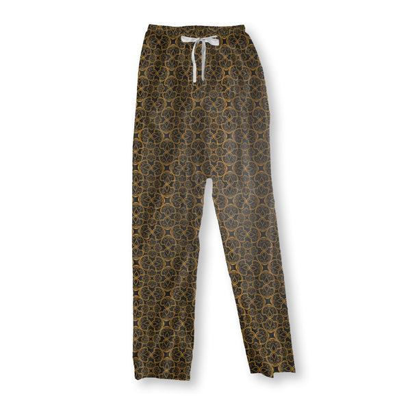 Floral Gold Jewellery Pajama Pants