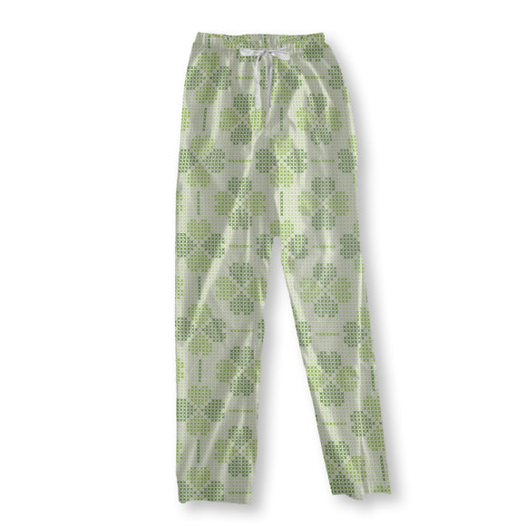 Embroidered Luck Pajama Pants