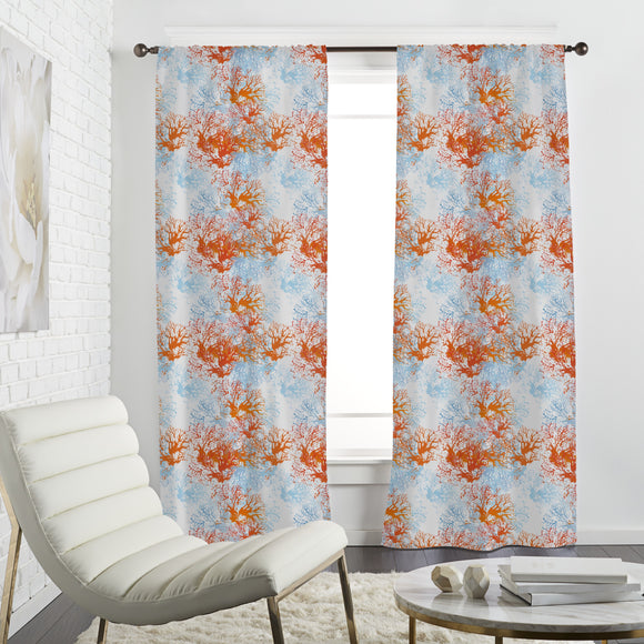 Coral Garden Curtains