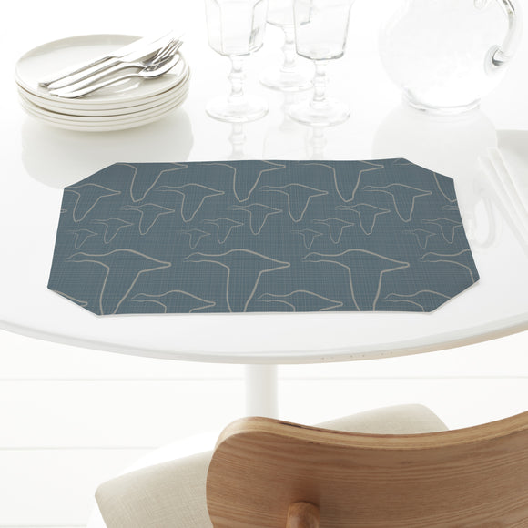 The Geese Fly On Denim Placemats