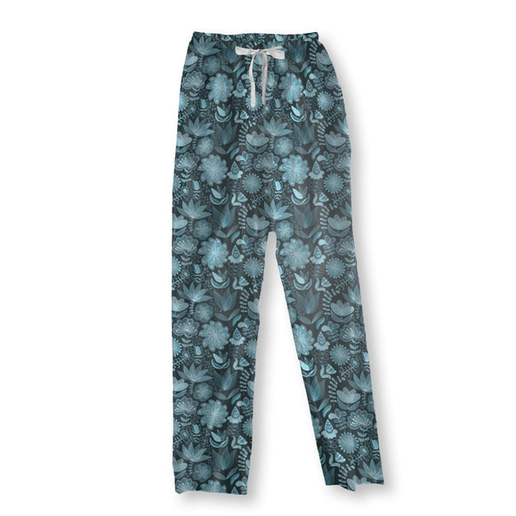 The Transparency Of The Night Flowers Pajama Pants