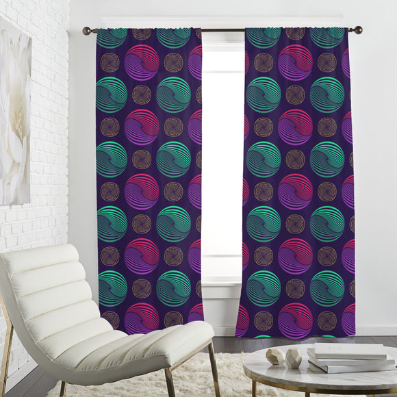 Willy Wonka Marbles Curtains