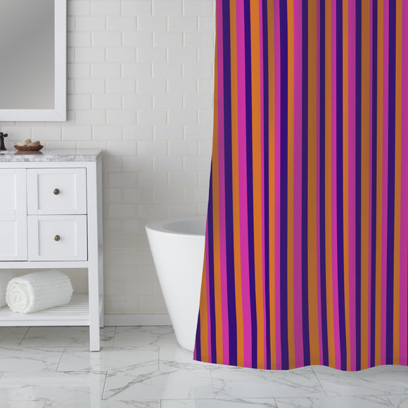 Triad Strips Shower Curtain